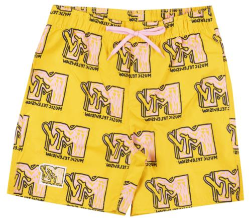 music television swim trunks board shorts mens