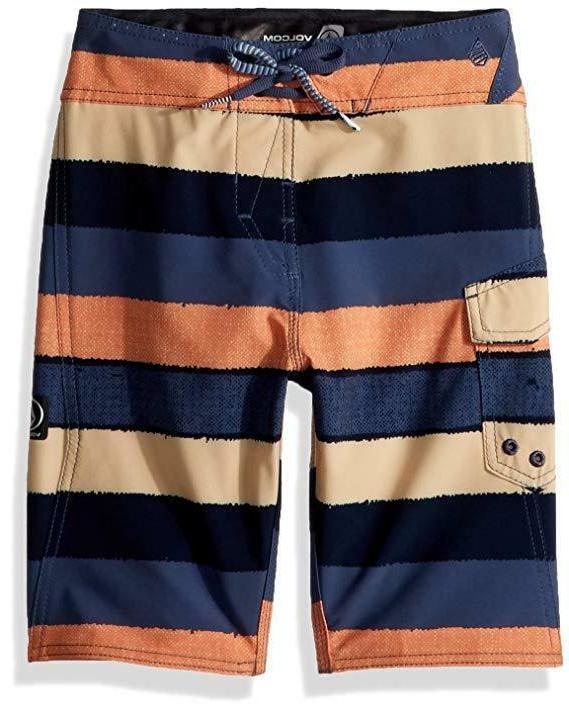 "NEW Volcom Boys' Big Magnetic Liney MOD 18"" Boardshort, Sunb"