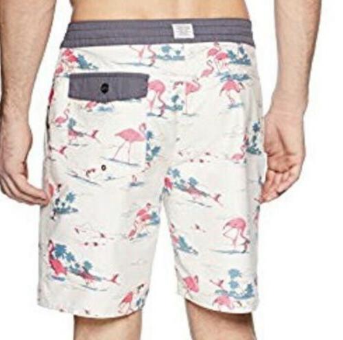 New! Bocas Layday Boardshorts Size Flamingo