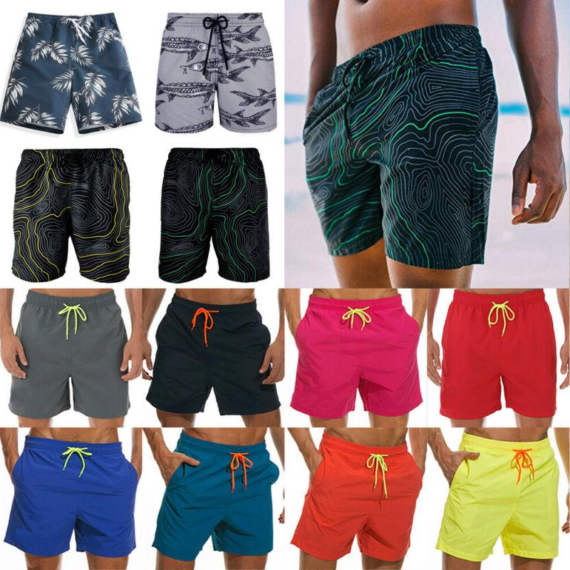 LO Men Swimming Board Short Trunk Beach Summer