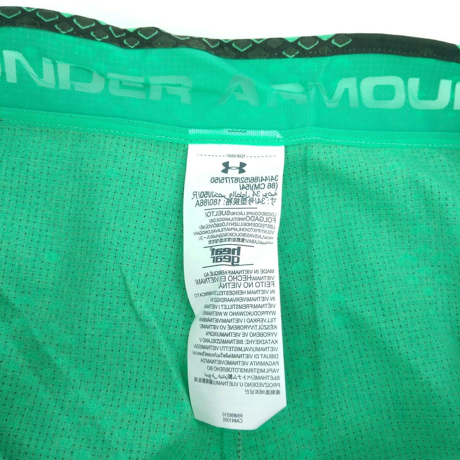 NEW Armour 34 HeatGear Green Board Shorts Suit