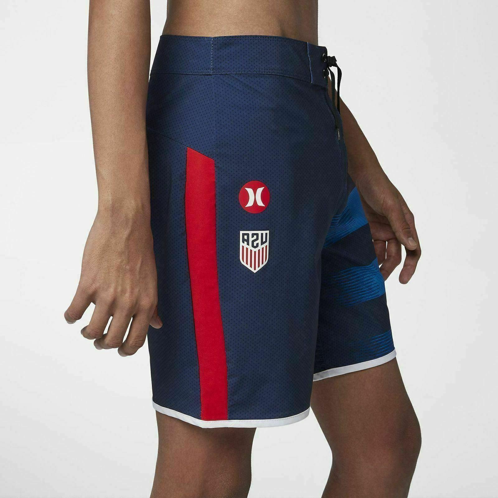 "NEW Hurley Mens USA 18"" Boardshorts $65"