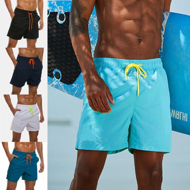 new mens swimming board shorts swim running
