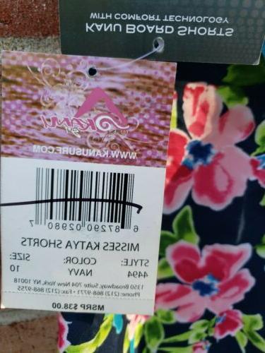 NEW Kanu Misses Katya Board Shorts Size 10 Cargo #4494