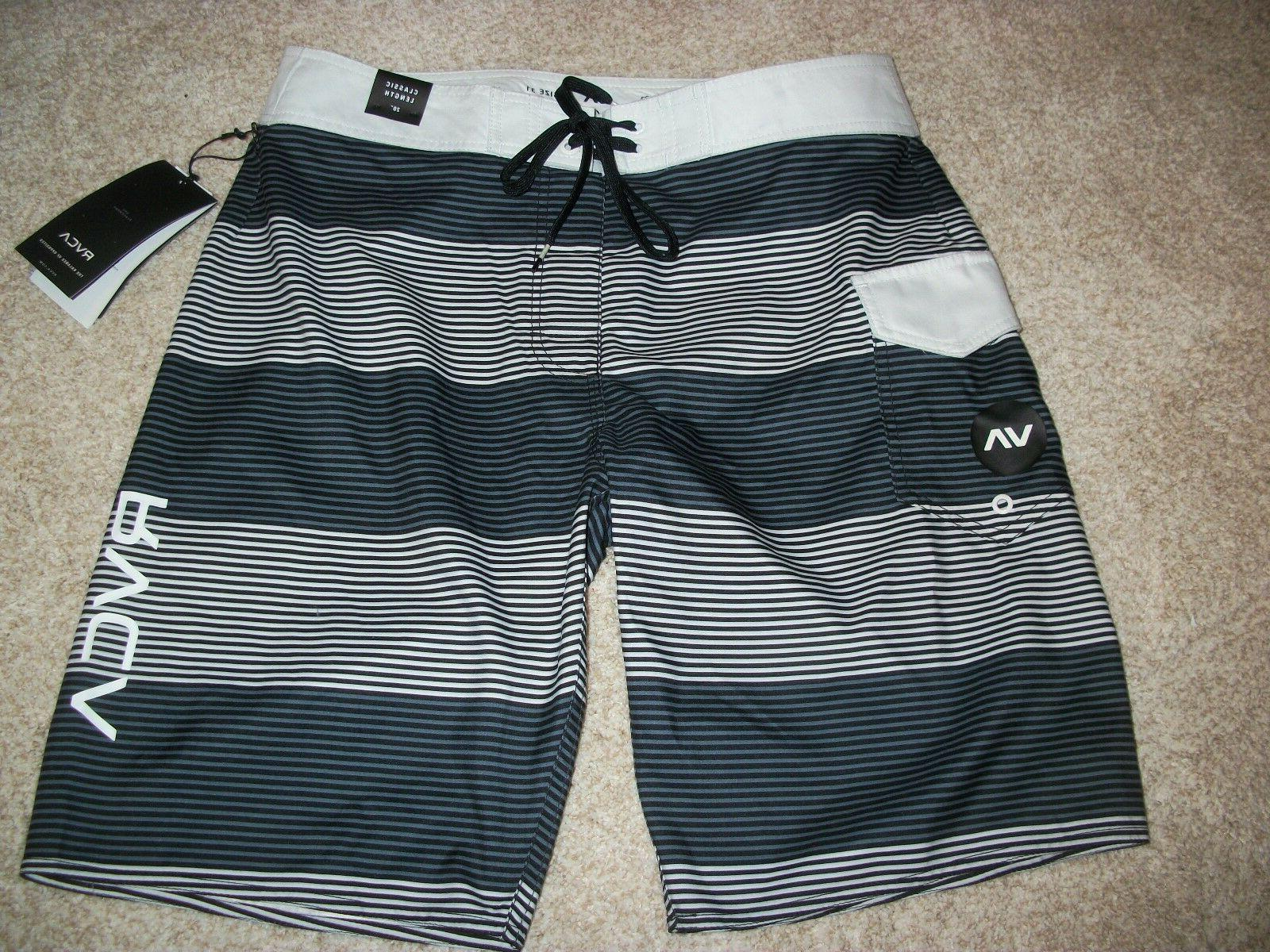 new nwt mens board shorts swim black