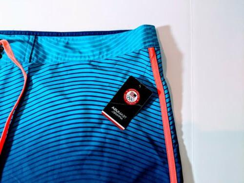 NEW HURLEY OLYMPIC TEAM BOARD SHORTS 42 BLUE $80
