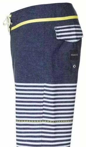 NEW Side Stripe Boardshorts Blue White #AQYBSO3152
