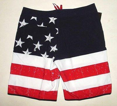 NWT Op AMERICAN FOURTH TRUNK BOARD SHORTS size 38