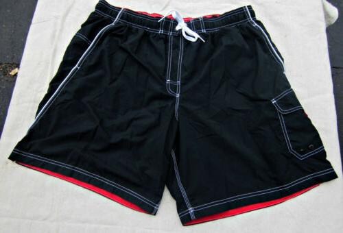 nwt boardshorts bathing swim shorts trunks black