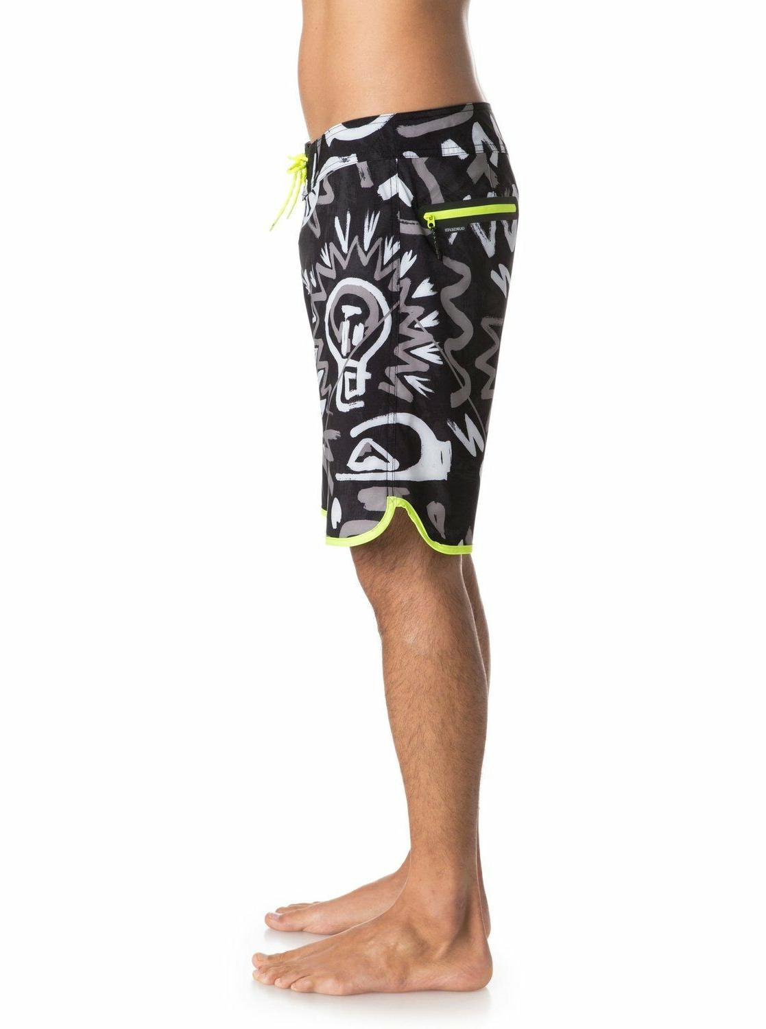 NWT Quiksilver Men New Boardshort Swim STEEPLE GREY