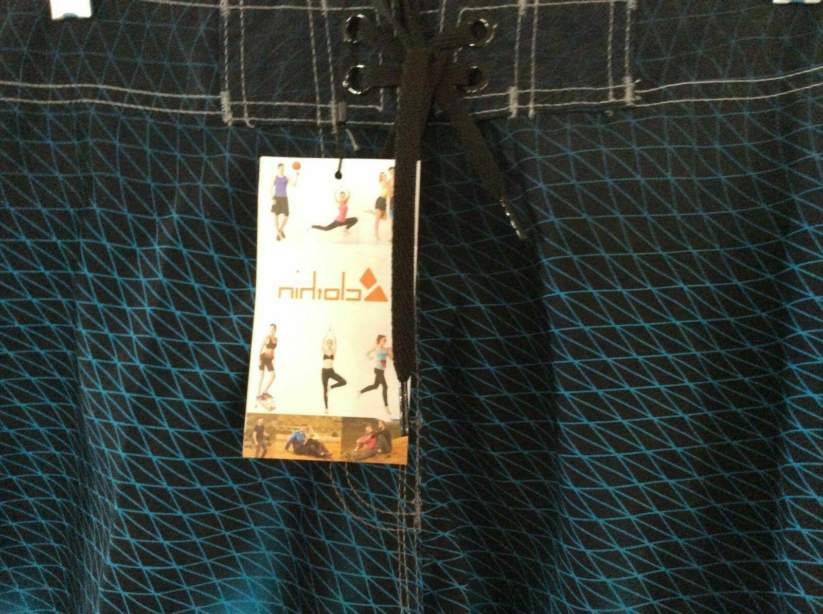 NWT Men's & Aqua Board Shorts Swim Size 36 US