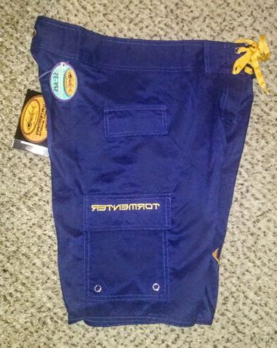 NWT Fishbone Waterman 5 Pocket Boardshorts Fish Swim