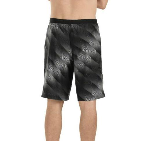 Geometric 4-Way Stretch Shorts Suit