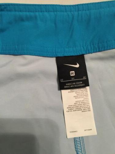 """NWT Mens Nike Swim Jackknife 11"""" Board Blue"""