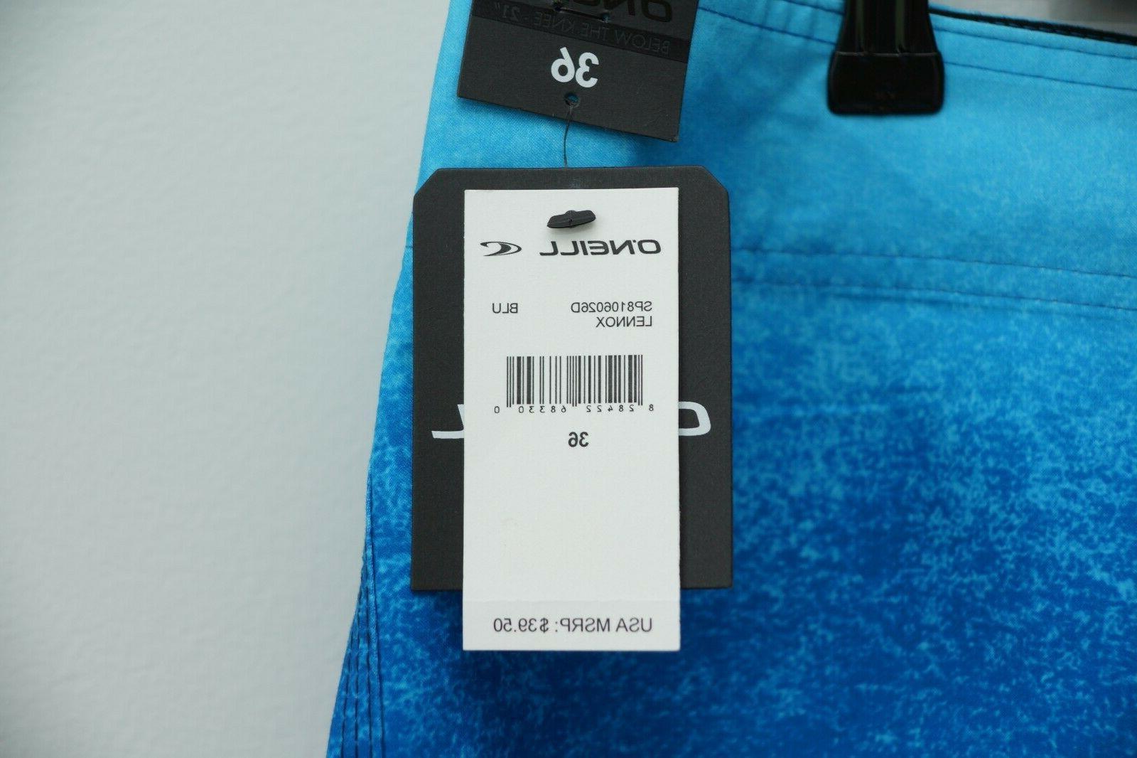 NWT O'NEILL Swim Board Shorts Size 36