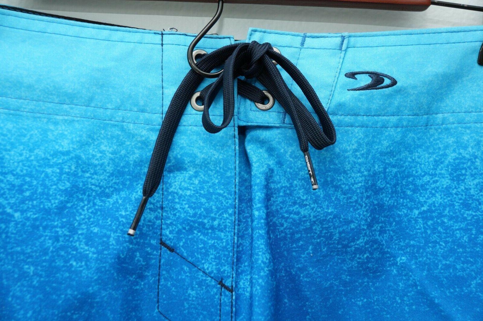 """NWT O'NEILL LENNOX Men's Swim 21"""" Stripped Blue"""