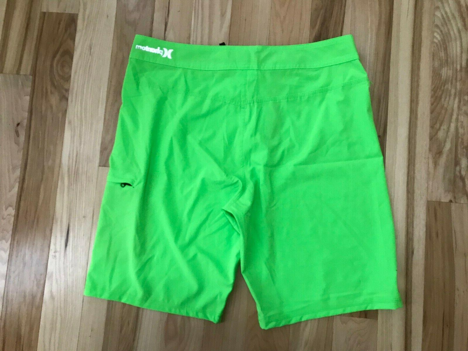 NWT HURLEY and Green Board Shorts Sz 33