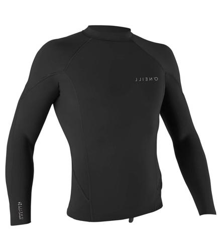 O'Neill Men's Reactor-2 1.5mm Long Sleeve Top, Black, Small