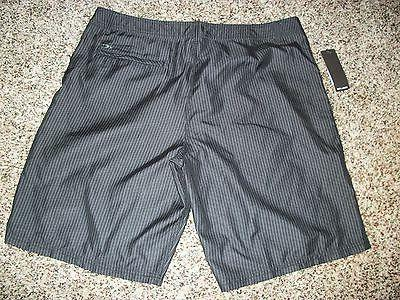 Board Boardshorts Black Gray Stripe 32 38