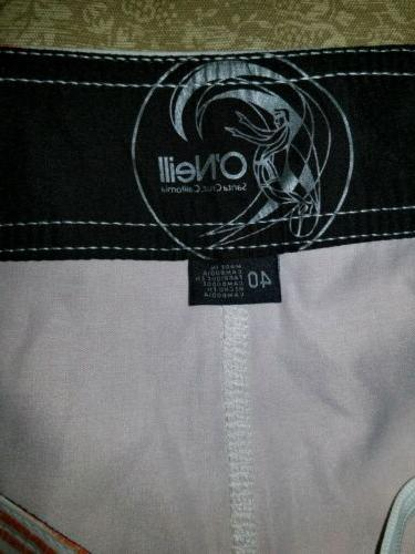 O'NEILL Teal, Board Shorts Santa Slim Fit NWT