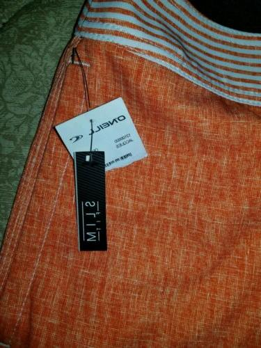 O'NEILL Orange, White, Board Slim Fit SZ NWT