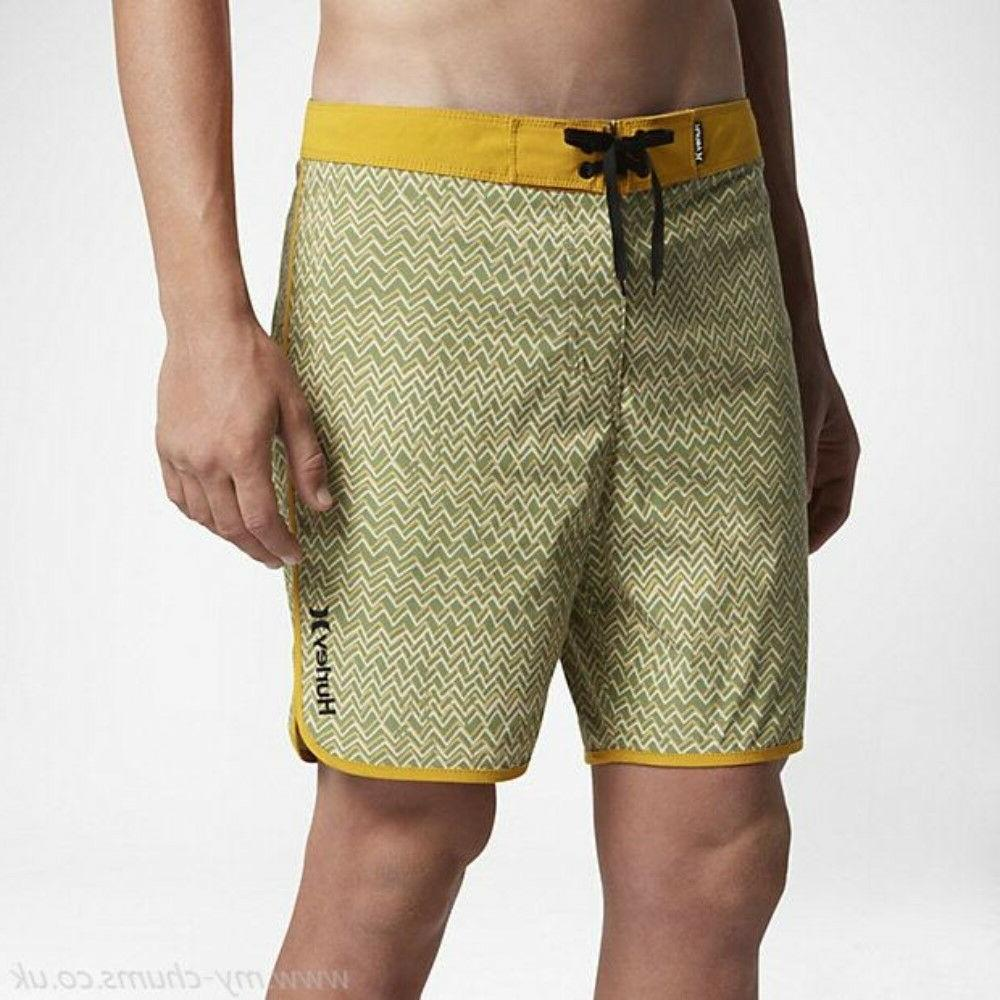 5b94fe280a Hurley Palm Green Zags Men's 18 inch Boardshorts Light Stret