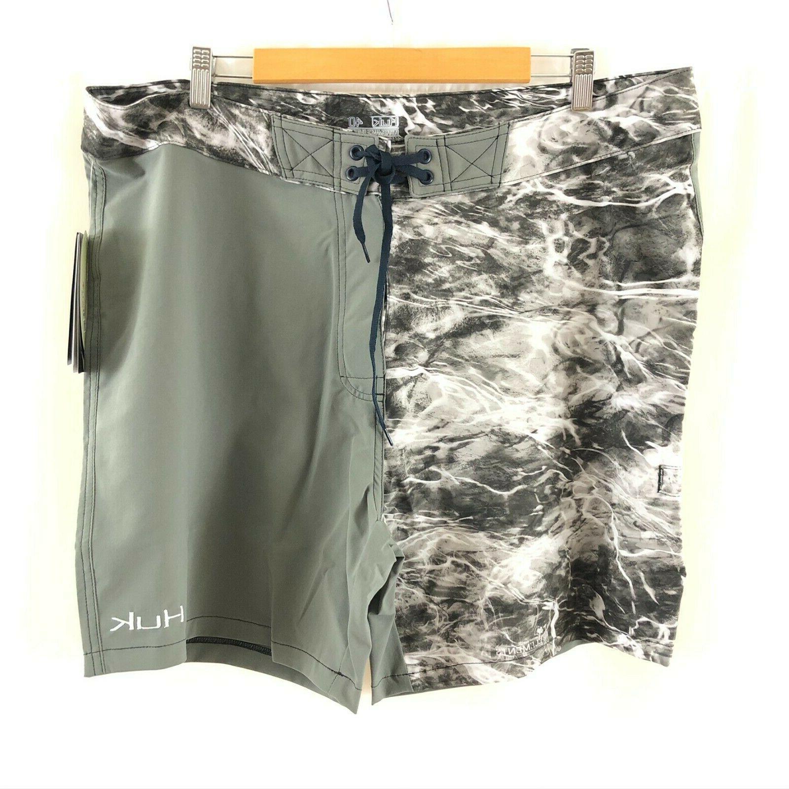 performance fishing mens element boardshorts water print