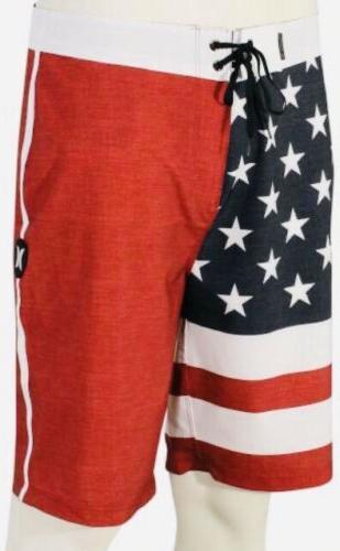 Hurley Board Shorts, USA Flag, BQ4134 - 30 -