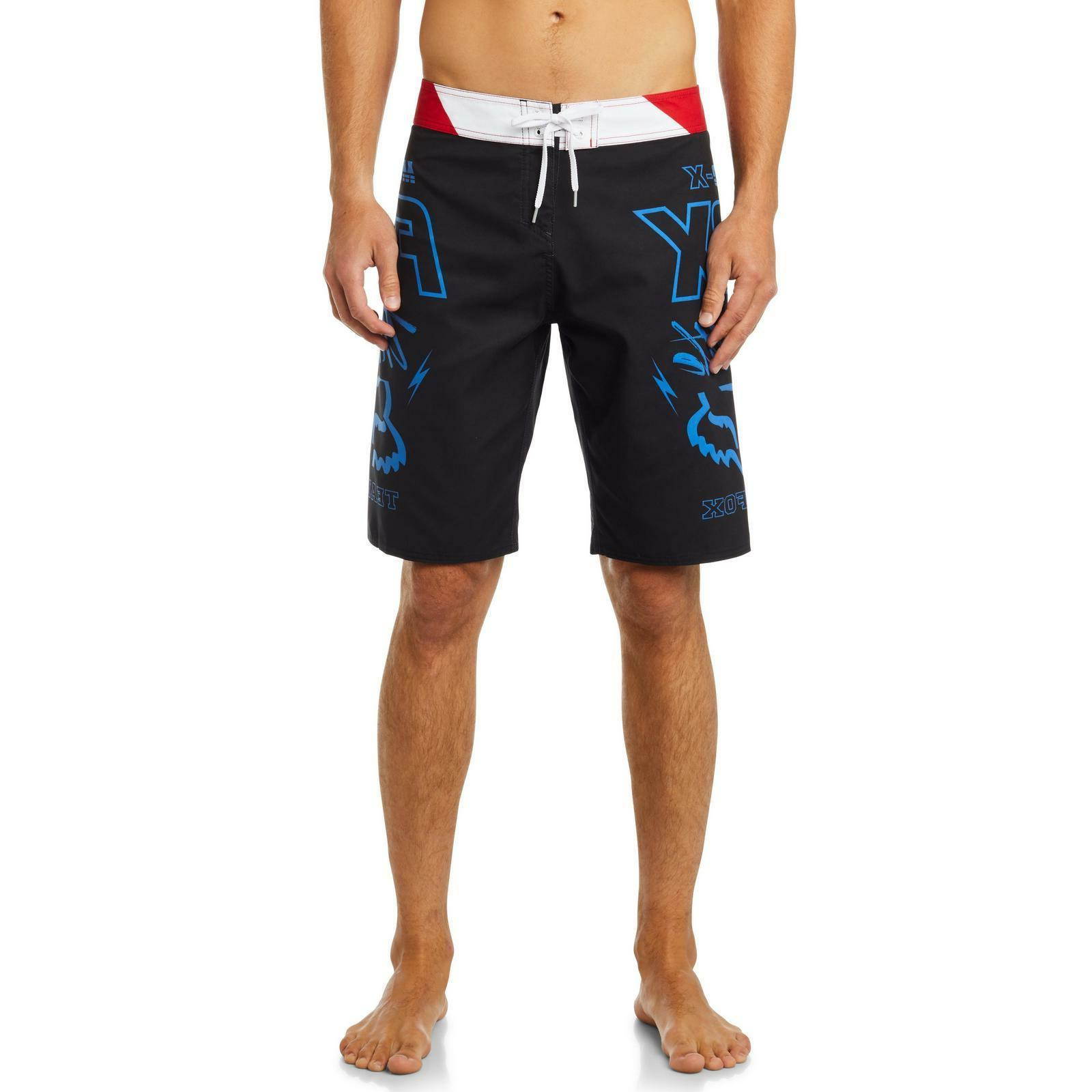 Fox Boardshort Throttle Black Red Swim Surf
