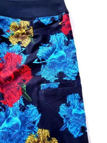 HUK Black Floral Shorts Mens Size