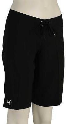"Volcom Simply Solid 11"" Women's Boardshorts - Black - New"