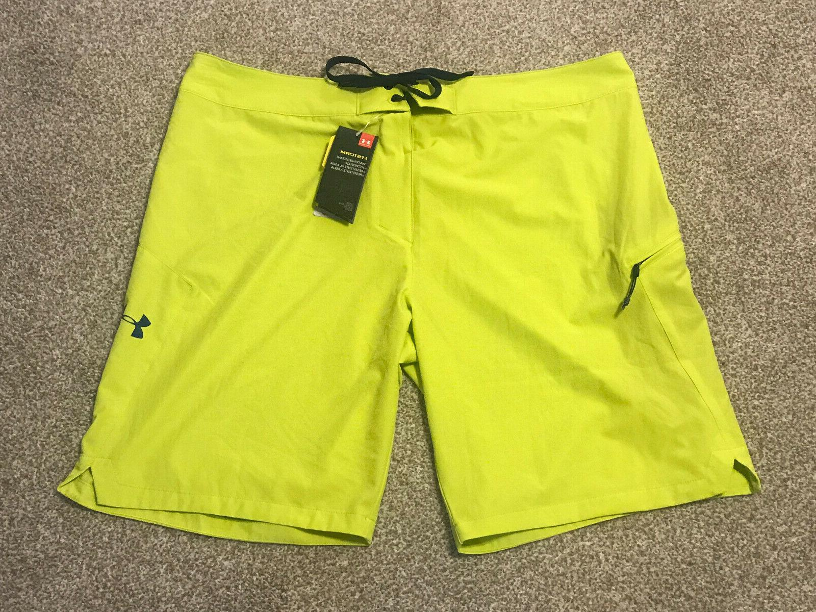storm stretch board shorts lime neon green