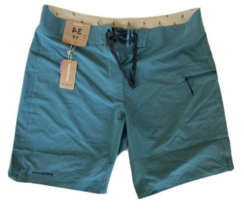 stretch planning 19 in board shorts teal