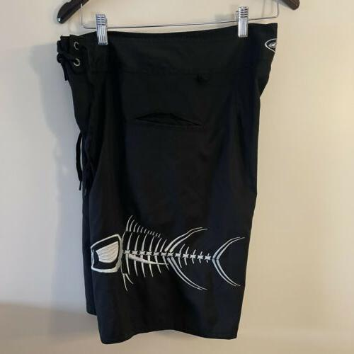 Tormenter Board Size 5 Pocket Swim Trunks Black
