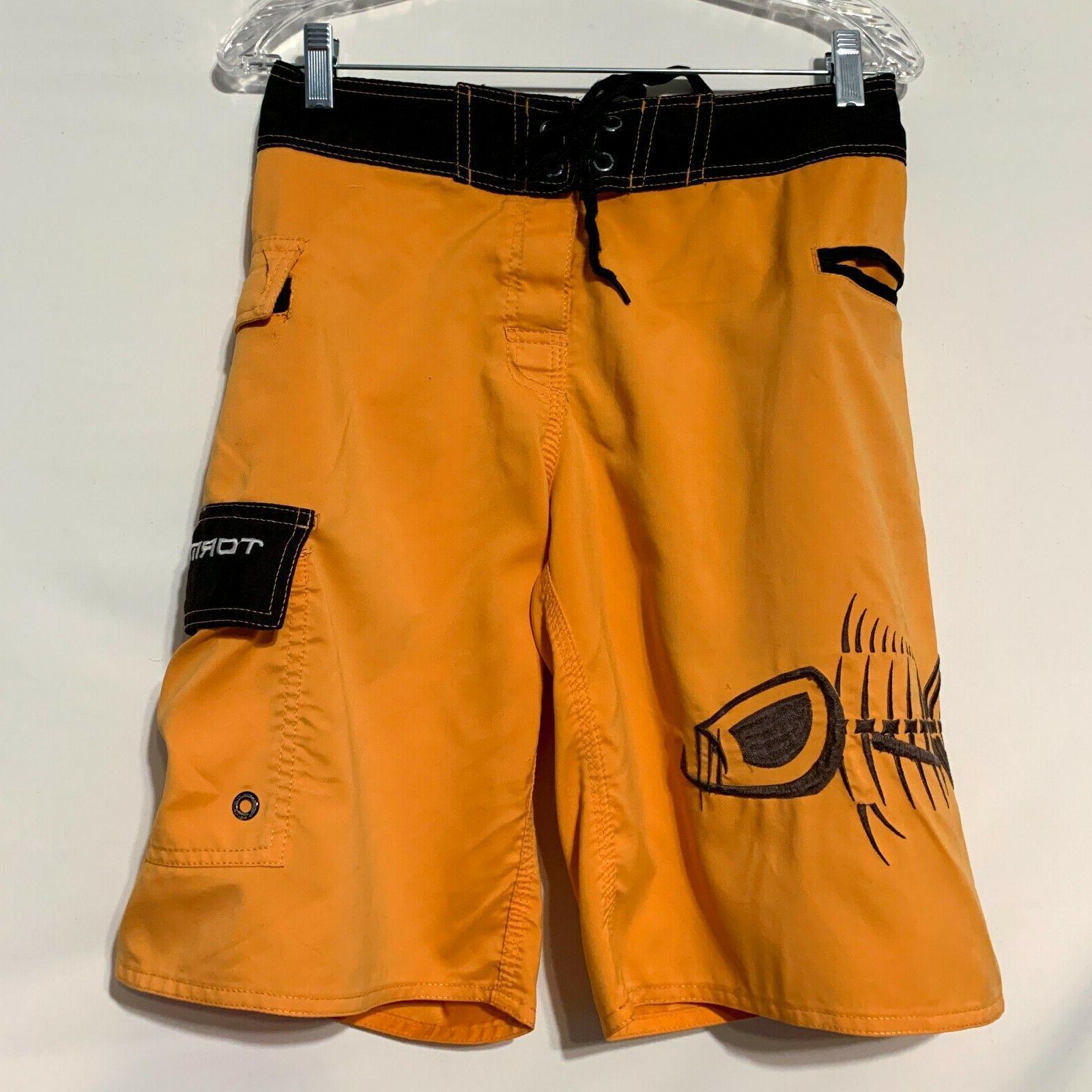 tormenter board shorts yellow fish bone