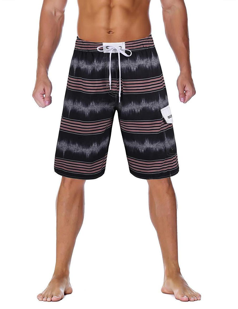 unitop men s colortful striped swim trunks