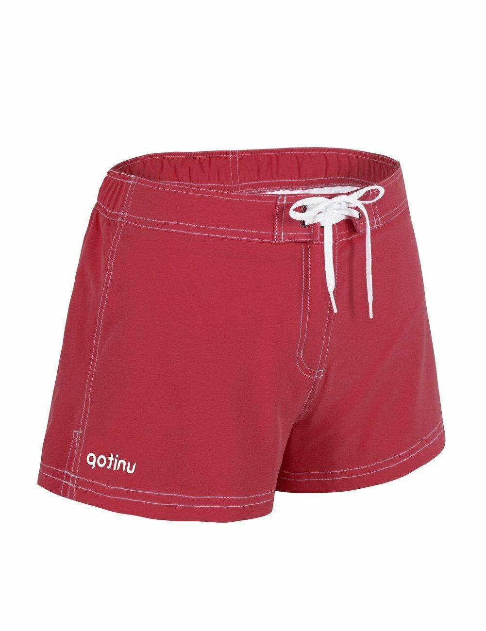 Unitop Women's Shorts Beach Swim Bottoms Quick Dry