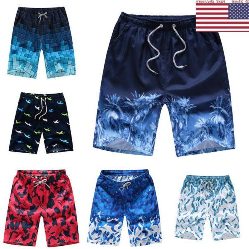 US Fast Summer Men's Boardshorts Surf Beach Shorts Swim Wear