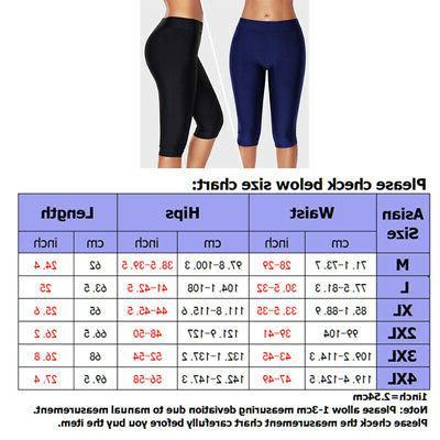 Womens Long Swim Boardshort Waisted Bottom Tankini Swimwear