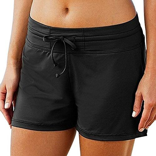 women swim yoga boardshorts plus size sun