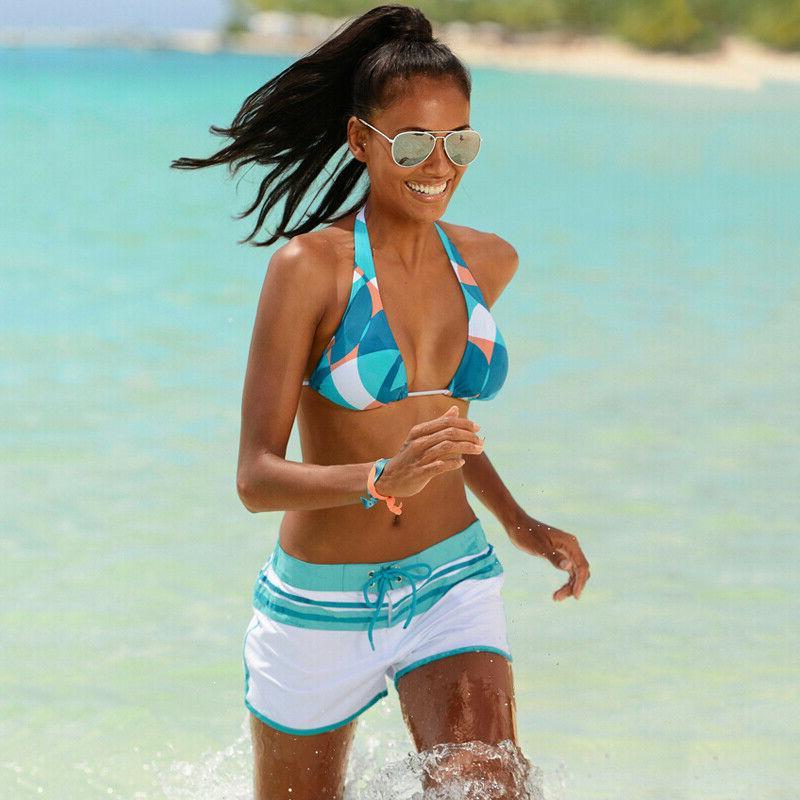 Women's Surf Board Shorts Sports Beach Pants Set