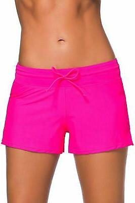 women s waistband swimsuit bottom boy shorts