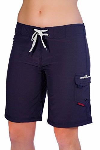 womens 4 way stretch 9 swim shorts
