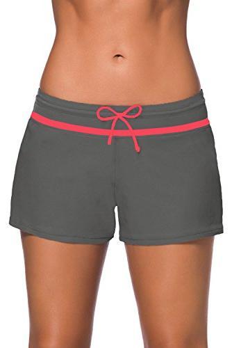 womens comfortable swim boardshort waistband swimsuit bottom