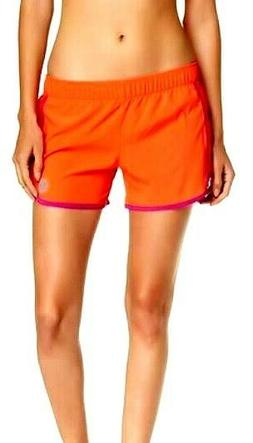 Roxy Line Up Active Shorts NWT Size S Orange Mesh Panels Bri