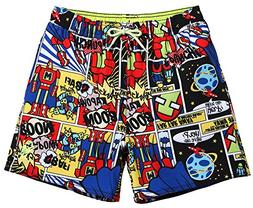 MaaMgic Little Boys Swim Trunks with Pocket Toddler Kids Sol