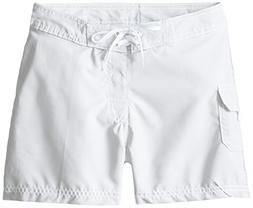 Kanu Surf Little Girls' Sassy Boardshorts, White, Small