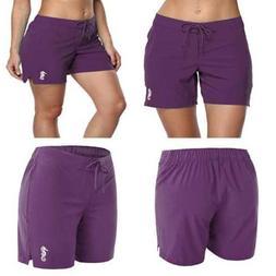 Sociala Long Board Shorts For Women Swim Quick Dry Boardshor