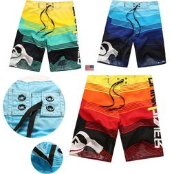 Men Board Shorts Surf Beach Sport Swim Wear Leisure Trunks P