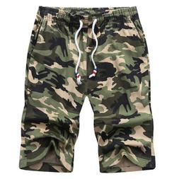 Men Boys 3/4 Length Beach Shorts Boardshorts Camouflage Comb
